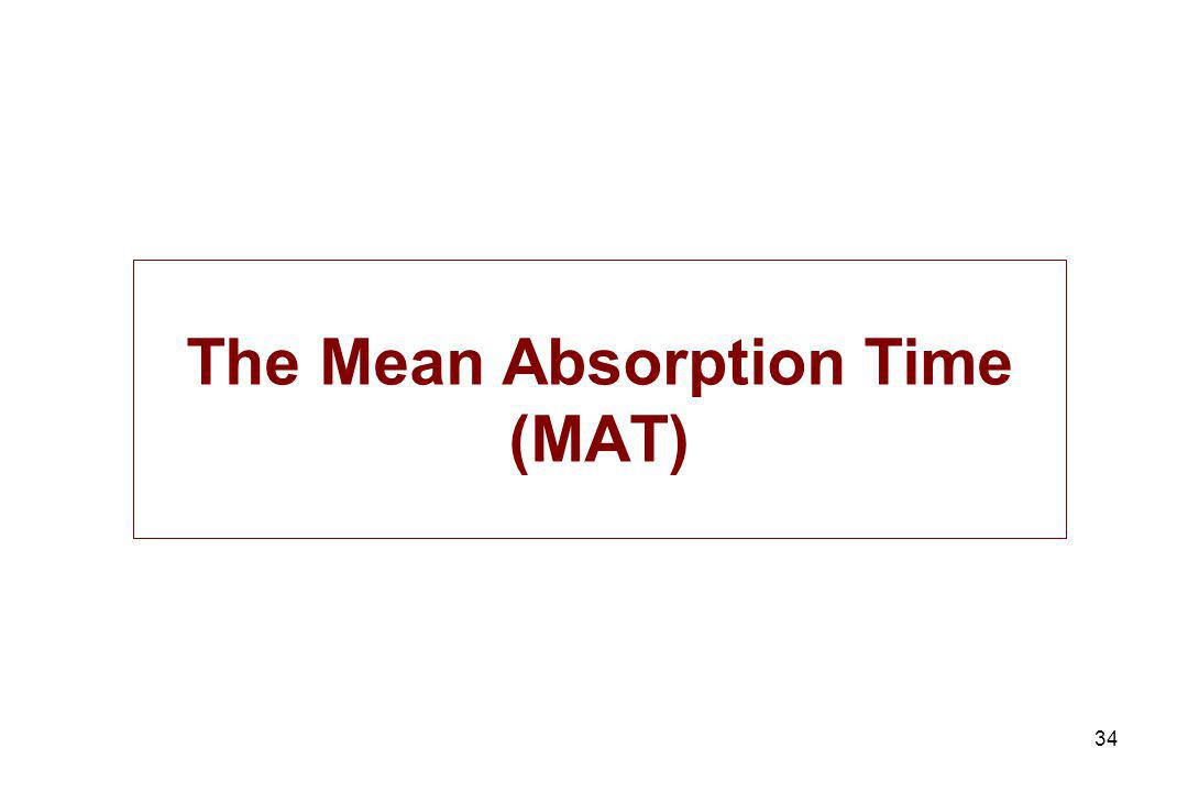 34 The Mean Absorption Time (MAT)