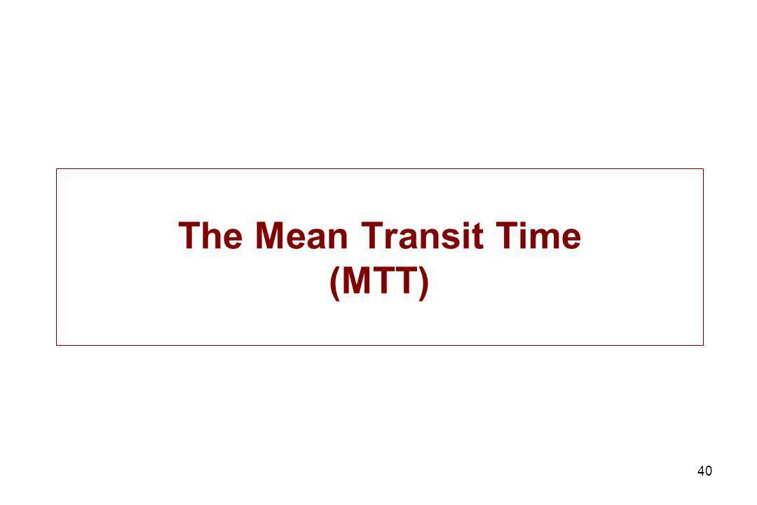 40 The Mean Transit Time (MTT)