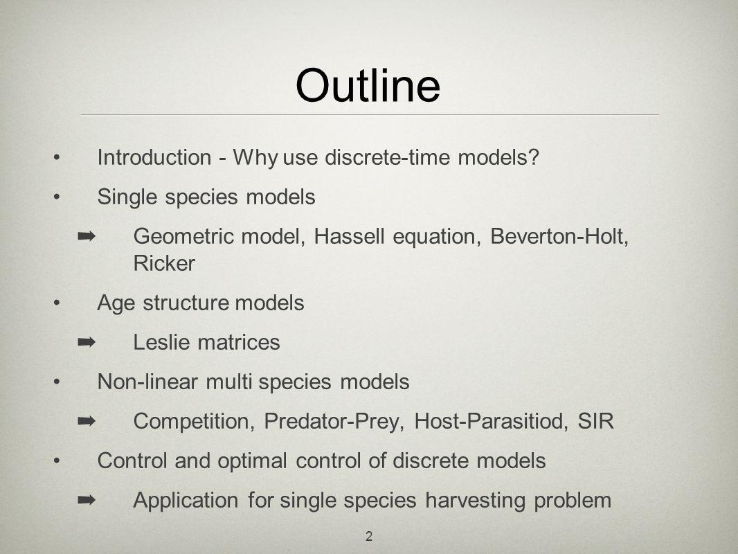 23 multi species models NnNnNnNn PnPnPnPn die Growth