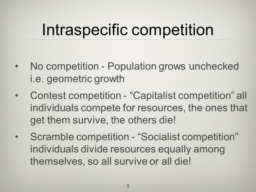 10 Hassell equation Under-compensation (0<b<1) Exact compensation (b=1) Over-compensation (1<b) The Hassell equation takes into account intraspecific competition
