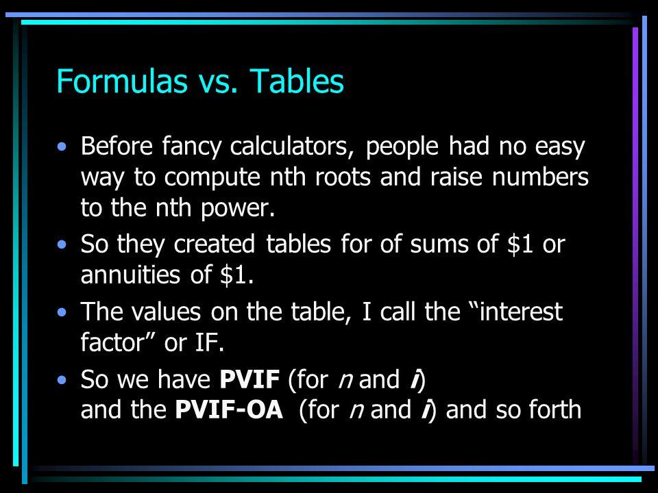 Annuity Formulas FV-OA = PV-OA = PMT i 1 (1 + i) n 1 - (1 + i) - 1 i PMT