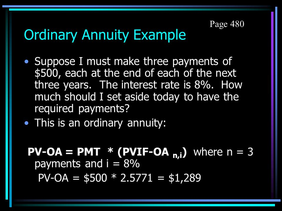 Conversion to Annuity Due To find IF for FV-AD: Add one to the number of periods and look up IF on table. Then subtract one from the interest factor l