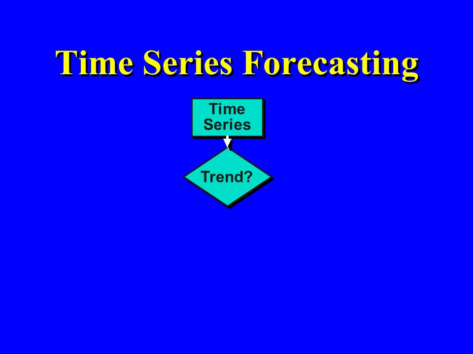 Time Series Forecasting Time Series Trend?