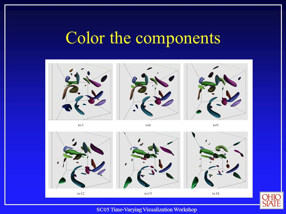 SC05 Time-Varying Visualization Workshop Color the components