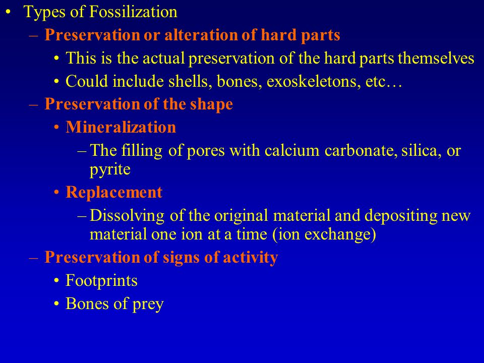 Geologic history is divided into four main eras.