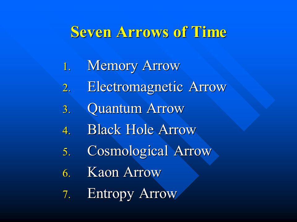 Seven Arrows of Time 1. Memory Arrow 2. Electromagnetic Arrow 3.