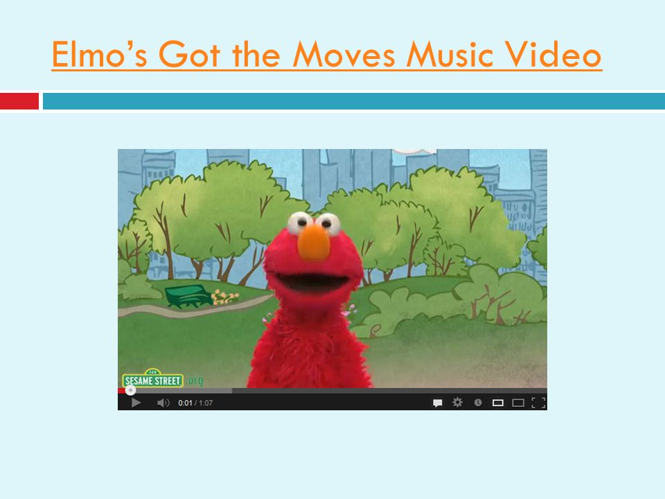Elmos Got the Moves Music Video