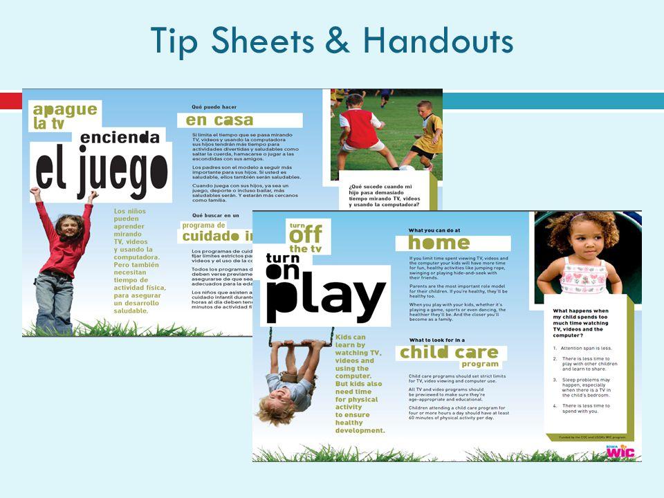 Tip Sheets & Handouts