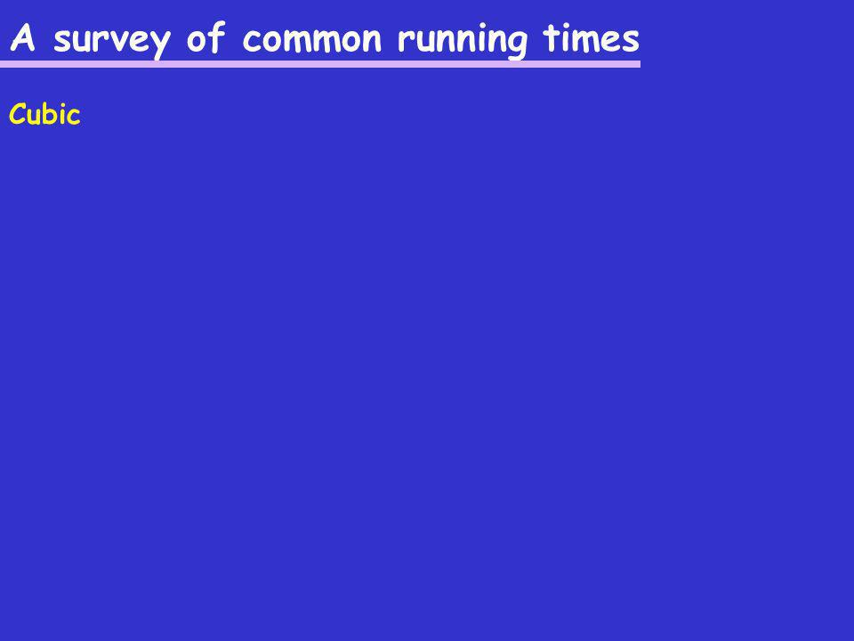 A survey of common running times Cubic