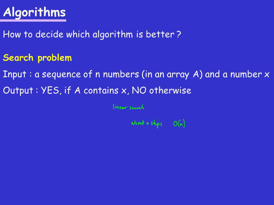 Algorithms How to decide which algorithm is better .