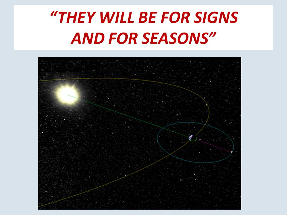 THEY WILL BE FOR SIGNS AND FOR SEASONS