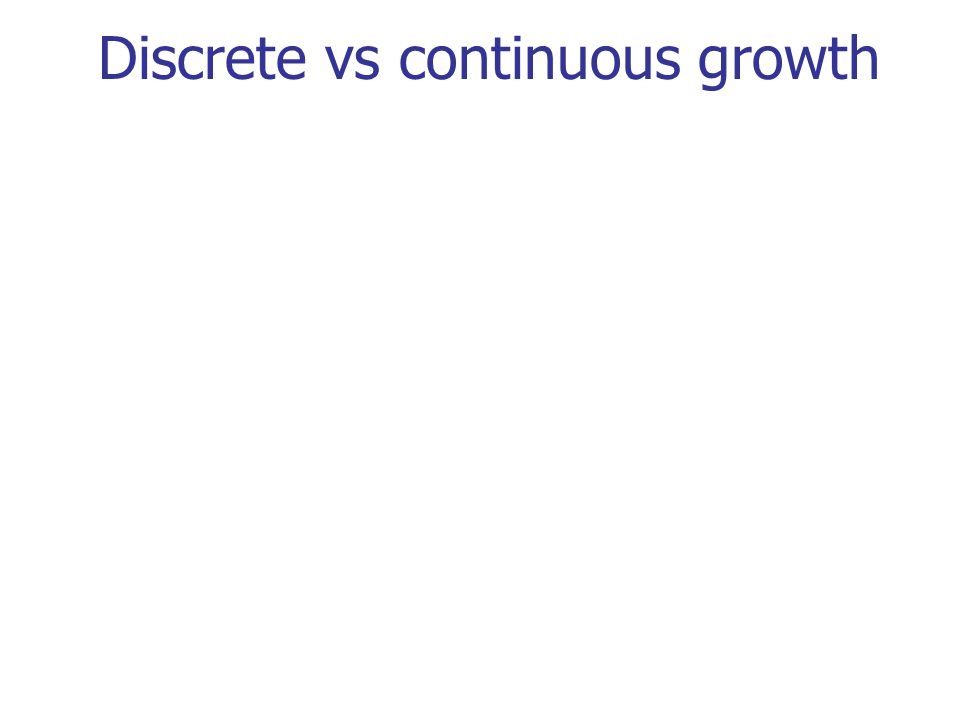 Discrete vs continuous growth