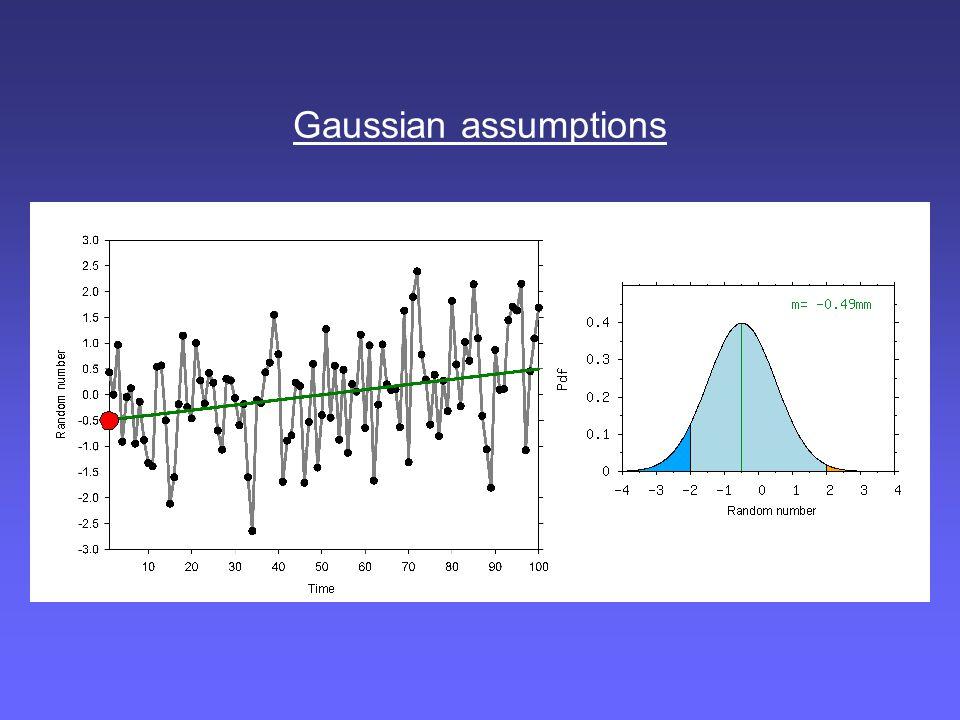 Gaussian assumptions