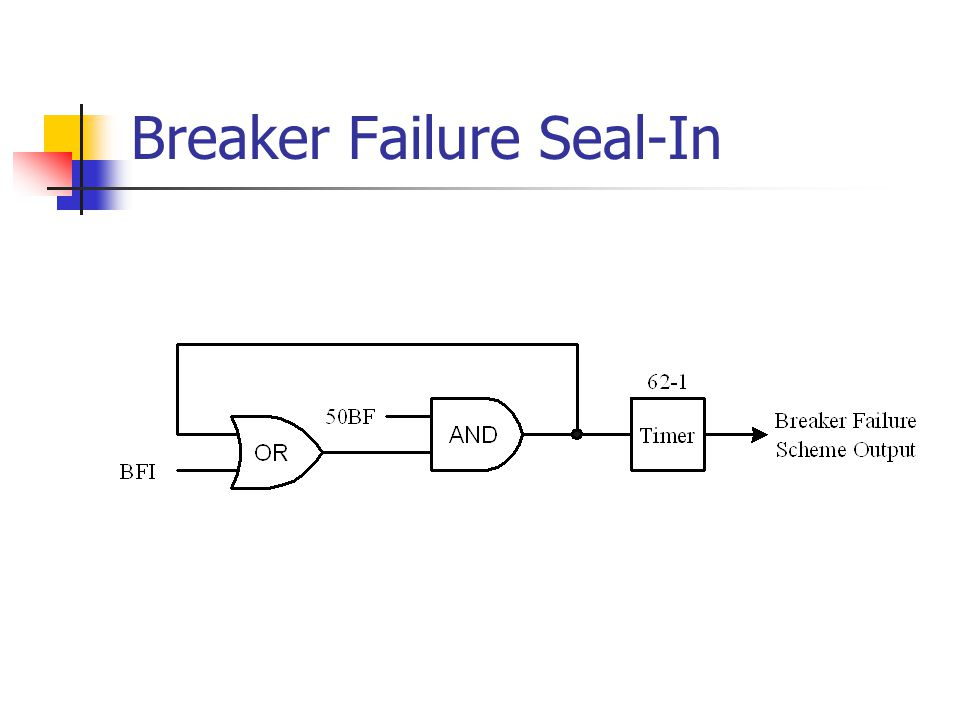 Breaker Failure Seal-In