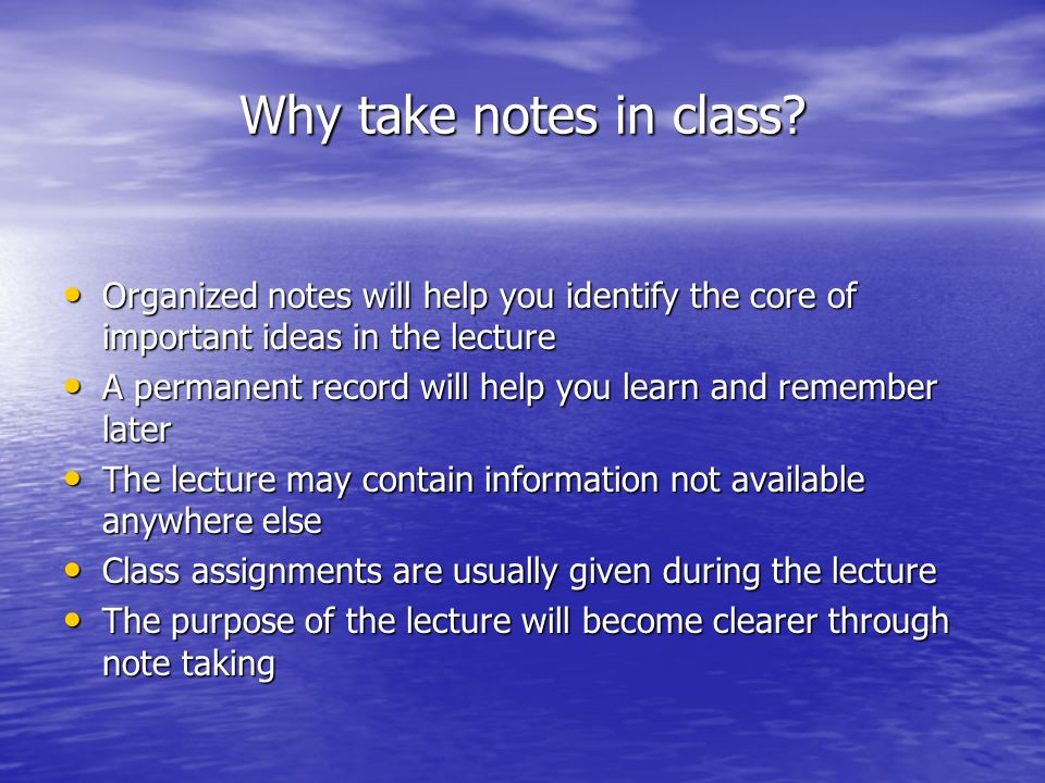 How do you take notes?
