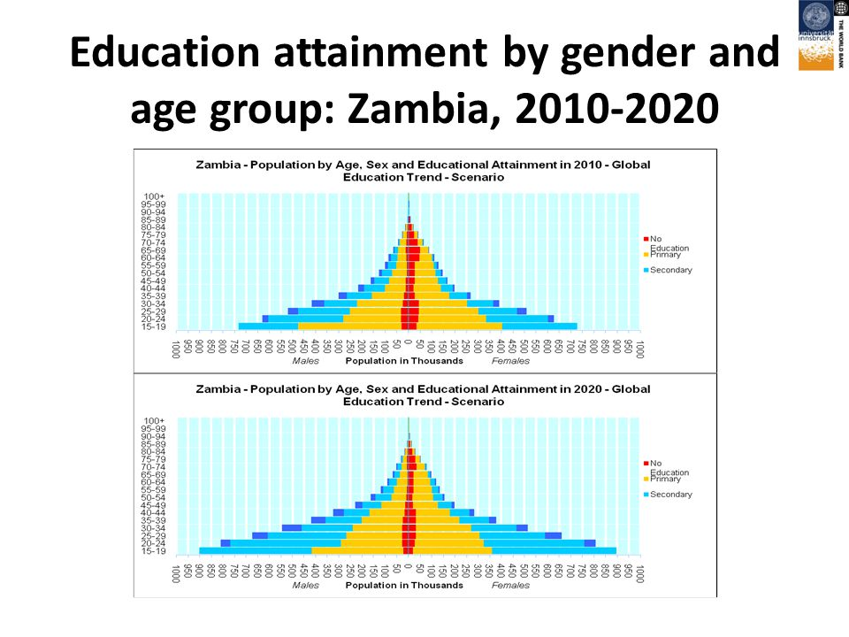 Migration rates by skill level and gender: Zambia, 2000