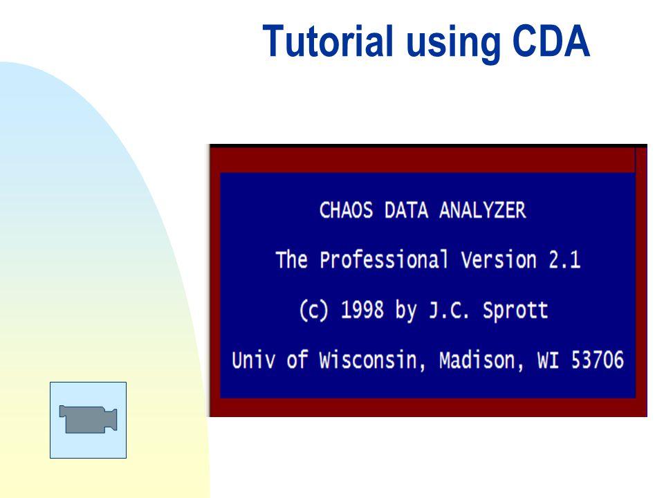 Tutorial using CDA