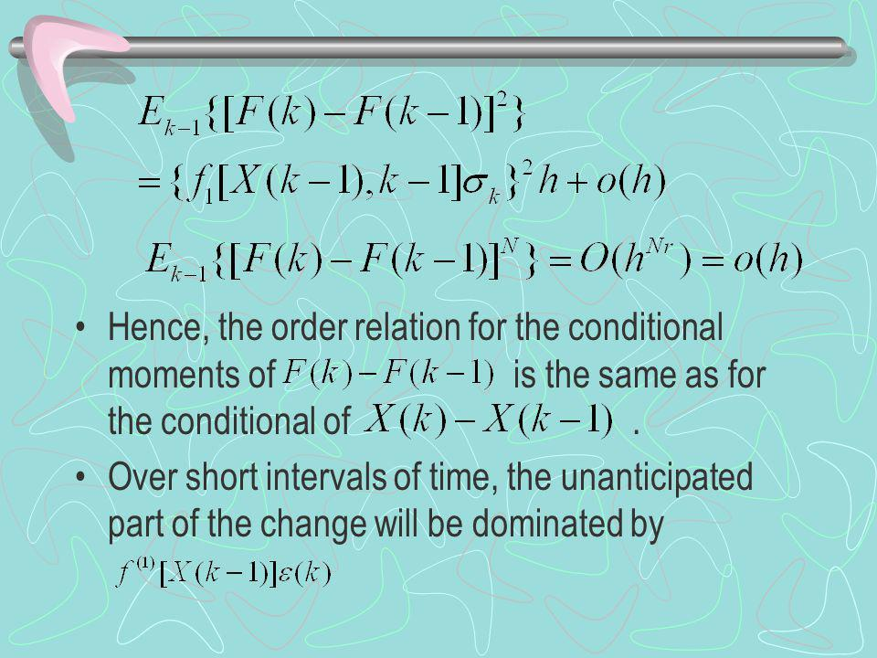 Hence, the order relation for the conditional moments of is the same as for the conditional of.