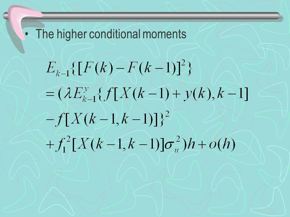 The higher conditional moments