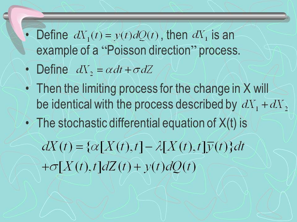 Define, then is an example of a Poisson direction process.