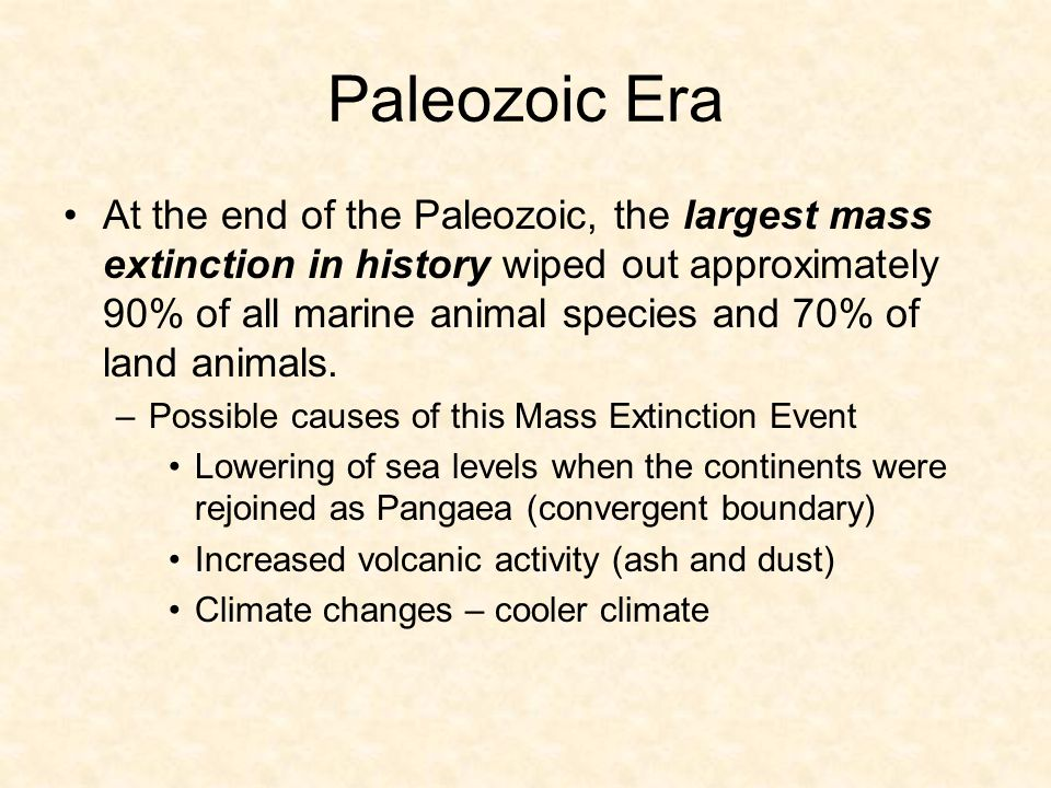Paleozoic Era Much of the limestone quarried for building and industrial purposes, as well as the coal deposits of western Europe and the eastern United States, were formed during the Paleozoic.