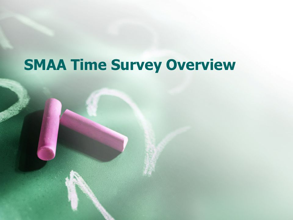 SMAA Time Survey Overview