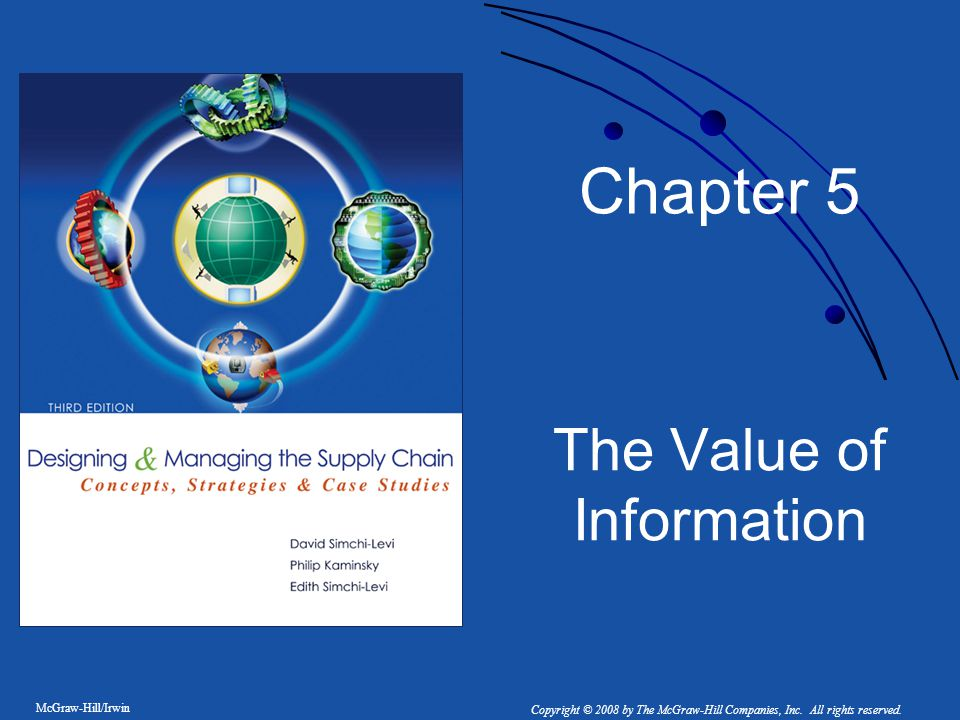 1-2 5.1 Introduction Value of using any type of information technology Potential availability of more and more information throughout the supply chain Implications this availability on effective design and management of the integrated supply chain