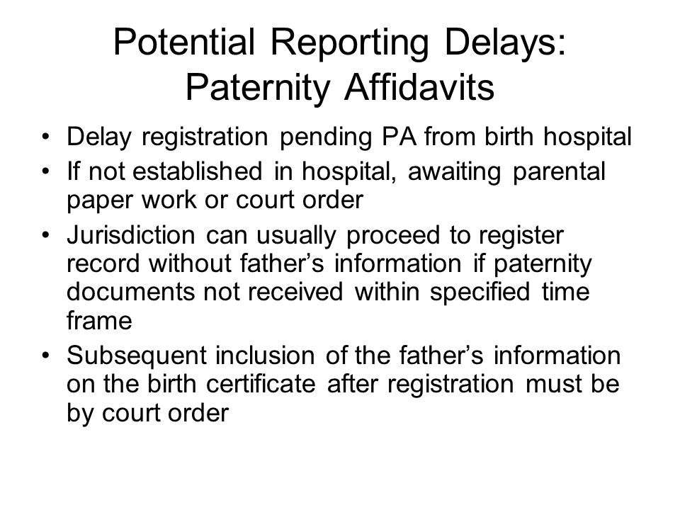Hospital Completes Birth Record Passes all NCHS edits.