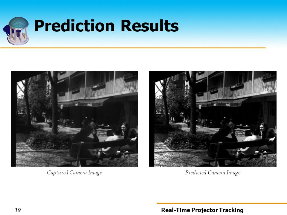 19 Real-Time Projector Tracking Prediction Results Captured Camera ImagePredicted Camera Image