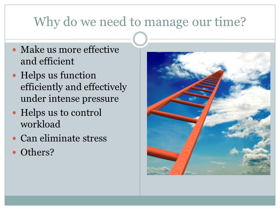 Why do we need to manage our time.