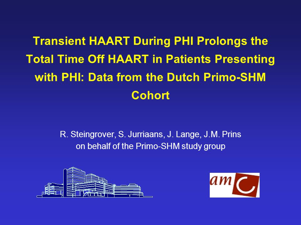 Transient HAART During PHI Prolongs the Total Time Off HAART in Patients Presenting with PHI: Data from the Dutch Primo-SHM Cohort R.