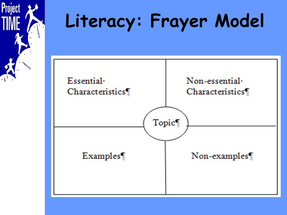 Literacy: Frayer Model