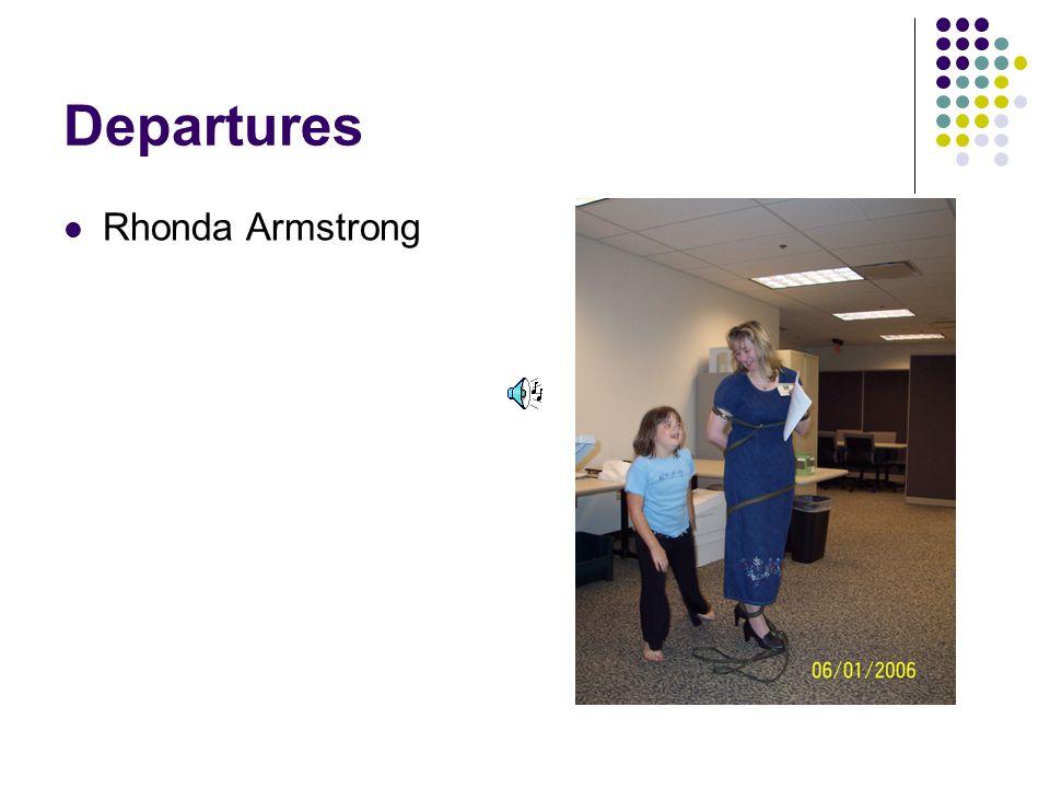 Departures Rhonda Armstrong