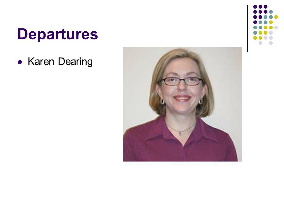 Departures Karen Dearing