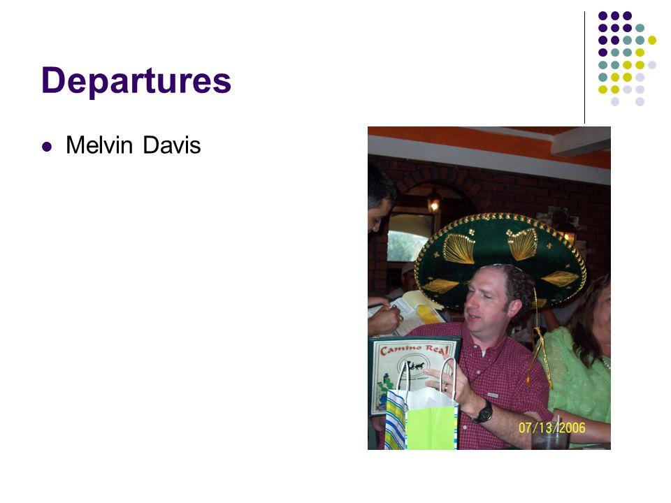 Departures Melvin Davis