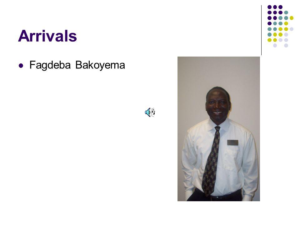 Arrivals Fagdeba Bakoyema