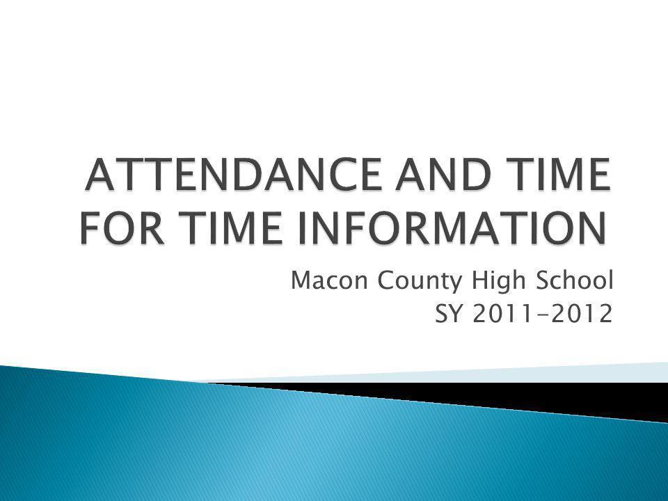 Macon County High School SY 2011-2012