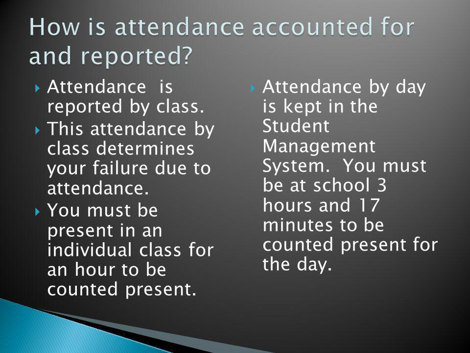 A documentation of the absence (admit slip) will be required before a student reenters his or her class.
