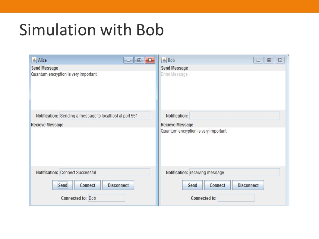 Simulation with Bob