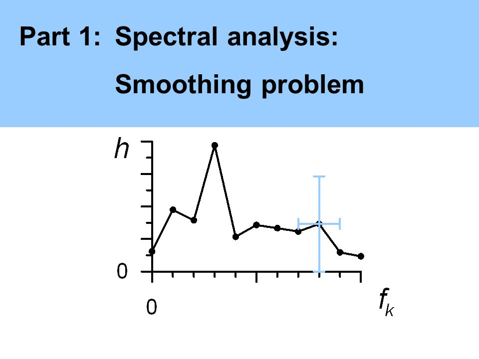 Part 1:Spectral analysis: Smoothing problem