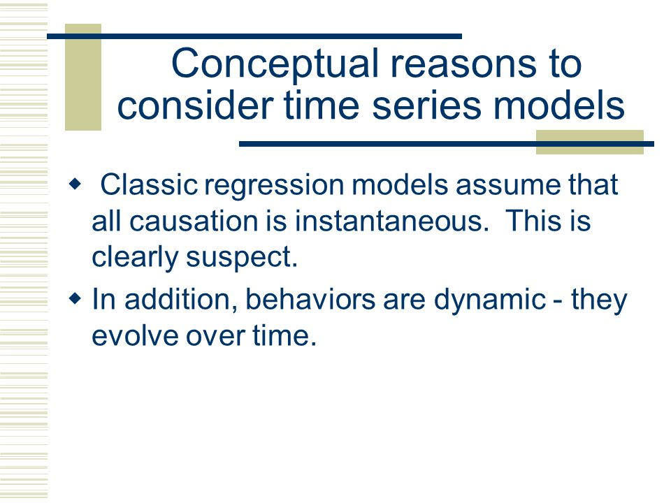 Time-Series Cross-Sectional Designs There are techniques for combining the two designs. Due to concerns for autocorrelation, and estimation, we will e