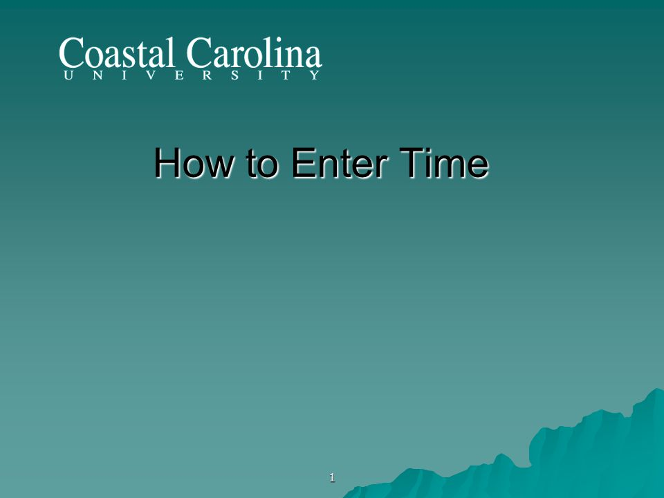 1 How to Enter Time