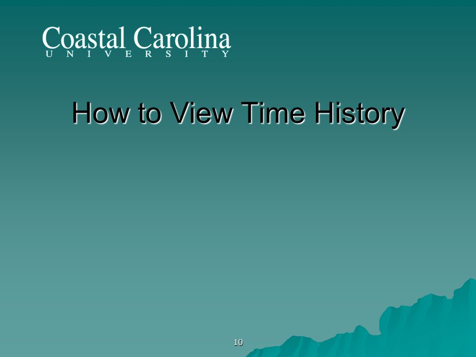 10 How to View Time History