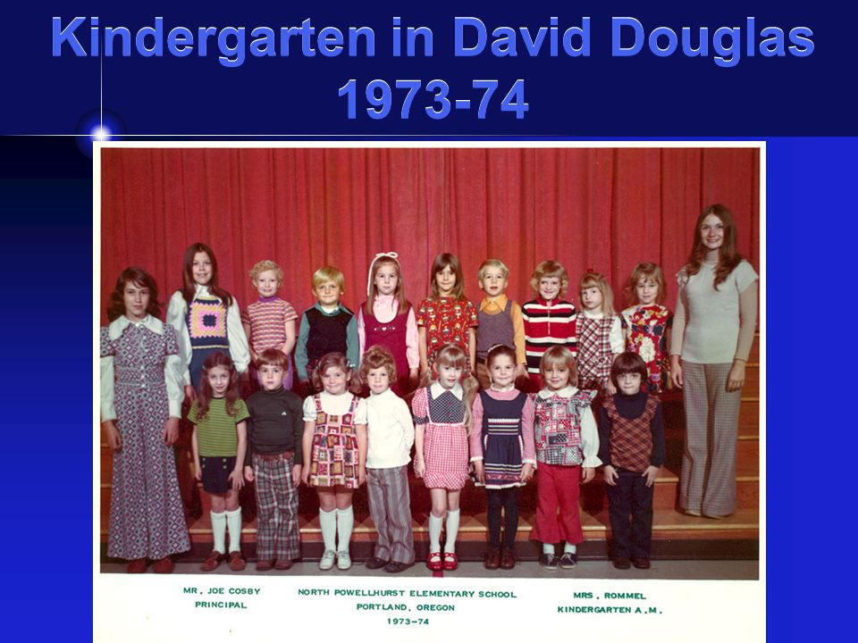 Kindergarten in David Douglas 1973-74