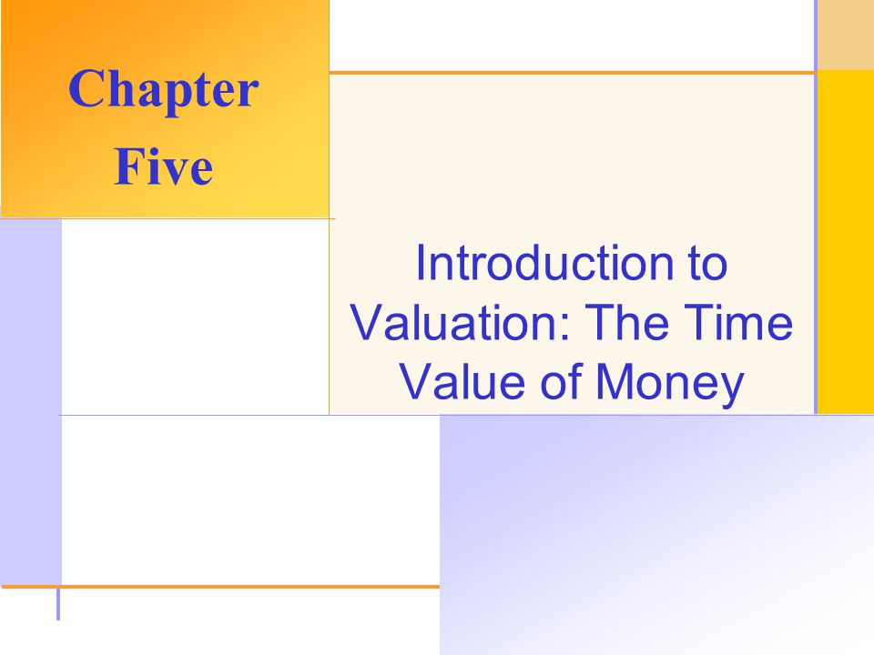 © 2003 The McGraw-Hill Companies, Inc. All rights reserved. Introduction to Valuation: The Time Value of Money Chapter Five