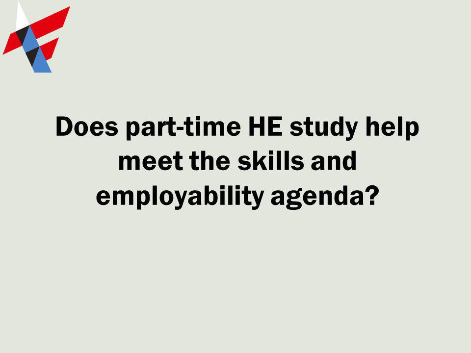 Does part-time HE study help meet the skills and employability agenda