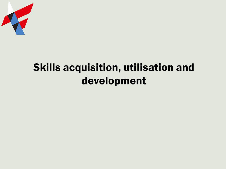 Skills acquisition, utilisation and development