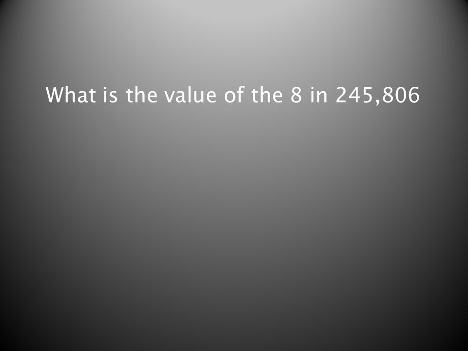 What is the value of the 8 in 245,806