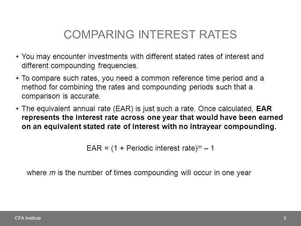 COMPARING INTEREST RATES 5