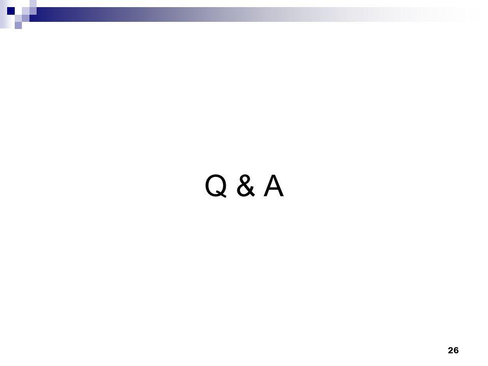 26 Q & A